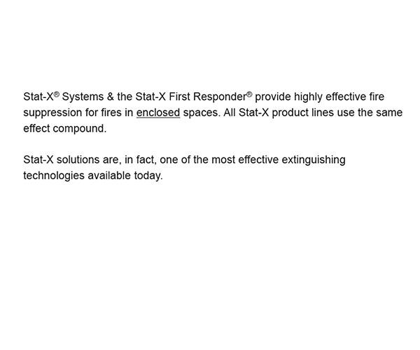 Stat-X | Aerosol Fire Suppression