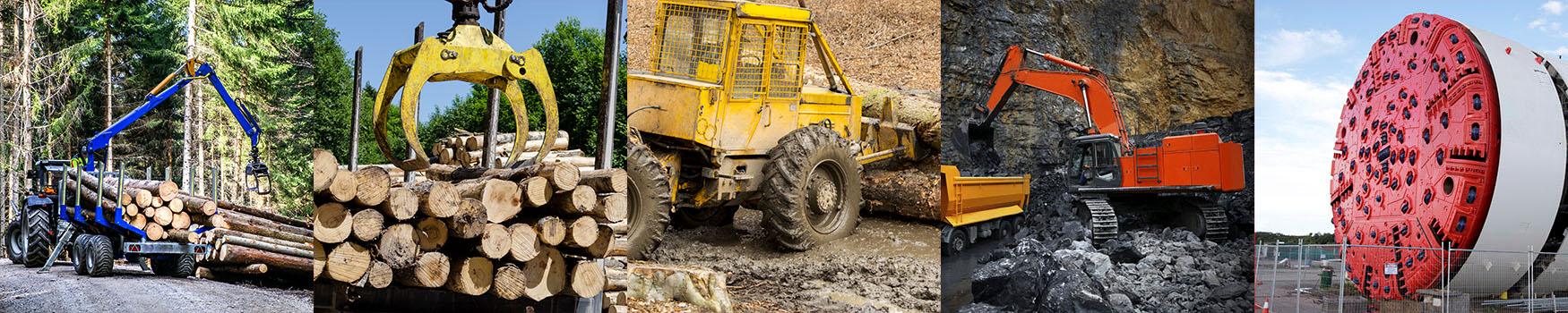 Transporter,Loading with Clipper Cut Logs,Skidder,Mining Loader,Tunnel Boring Machine